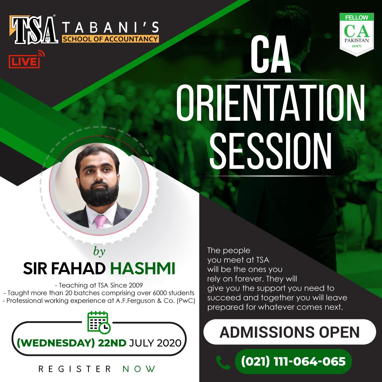 CA Orientation